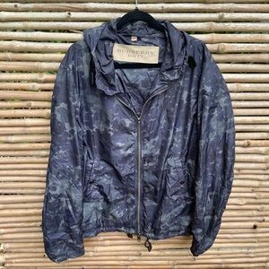 Burberry Camouflage Brit Technical Hooded Jacket